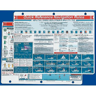 Davis 125 NAVIGATION RULES QUICK REFERENCE CARD / NAVIGATION RUL