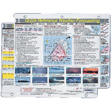 Davis 131 WEATHER FORECASTING REFERENCE CARD / QRC WEATHER GUIDE